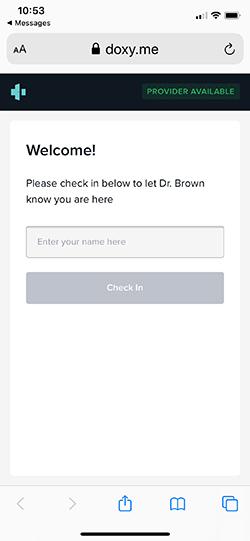 Telehealth for Dr Graeme Brown